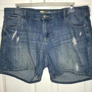 Boyfriend distressed shorts